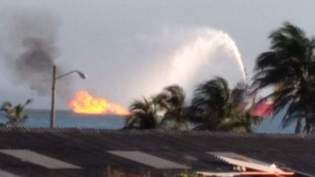 incendio ducto PEMEX Dos Bocas