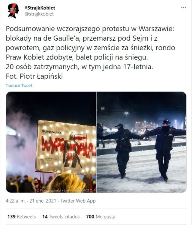 manifestaciones aborto Polonia