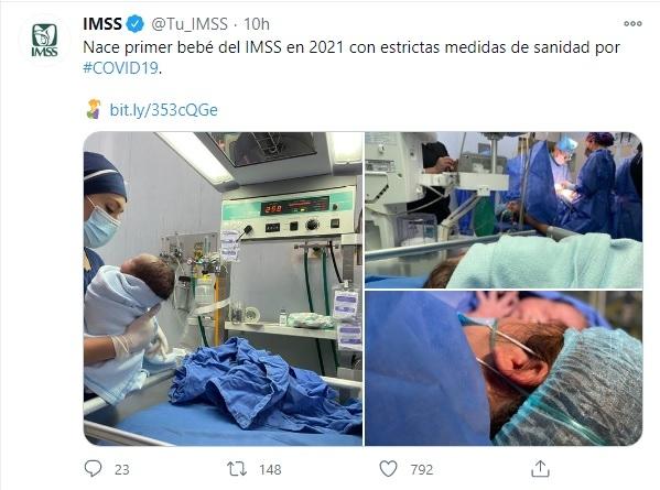 Nace primer bebé 2021 hospital IMSS CDMX