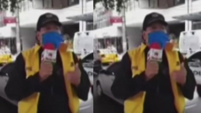 Video: Reportero da a conocer la muerte de su esposa por Covid-19 en transmisión