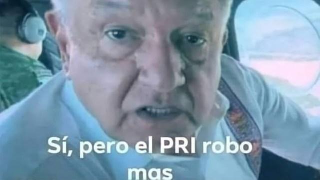 Sí pero el PRI robó más meme