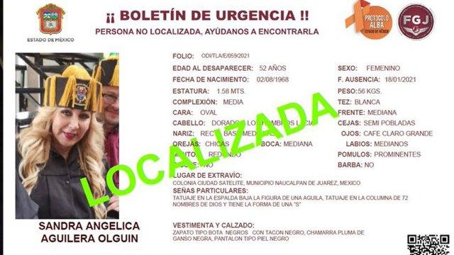 La periodista Sandra Aguilera fue encontrada en el Hospital de Traumatología de Lomas Verdes del IMSS tras ser reportada como desaparecida