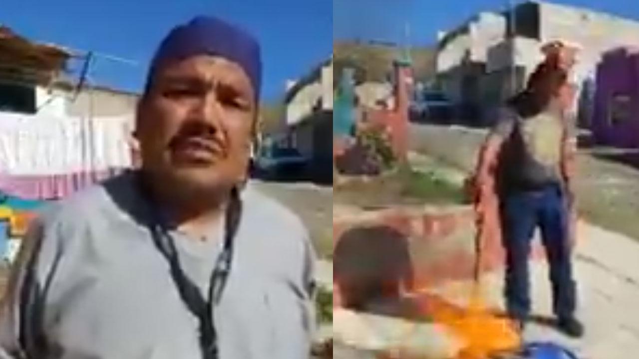 Daniel, un camillero del ISSSTE, grabó un video en el que renuncia a su trabajo y quema su uniforme por no recibir la vacuna contra COVID-19
