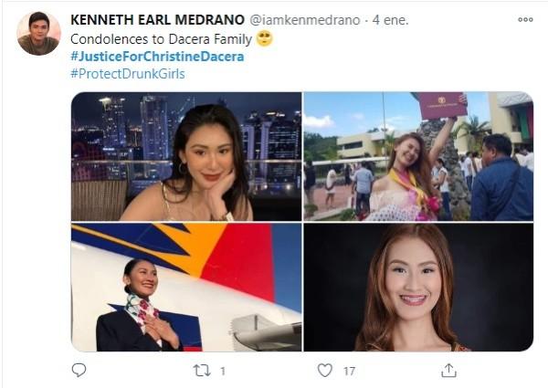 violación asesinato Christine Dacera sobrecargo Filipinas