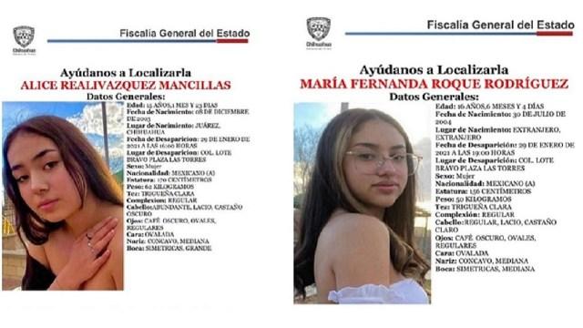 Adolescentes reportadas desaparecidas encontradas Ciudad Juárez