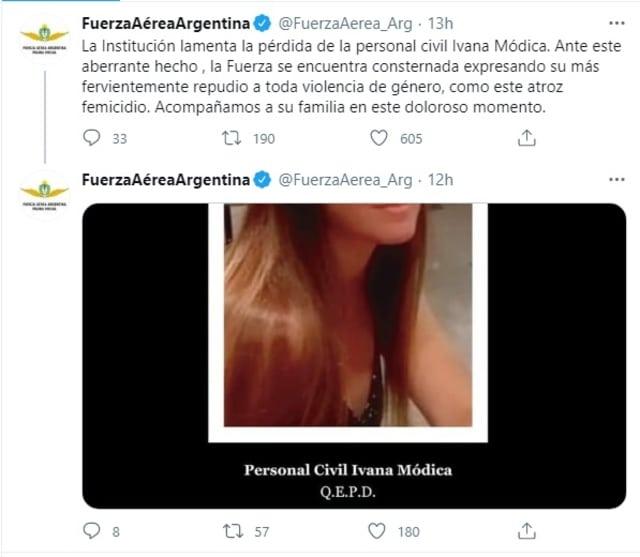 Fuerza Aérea Argentina feminicidio Ivana Módica