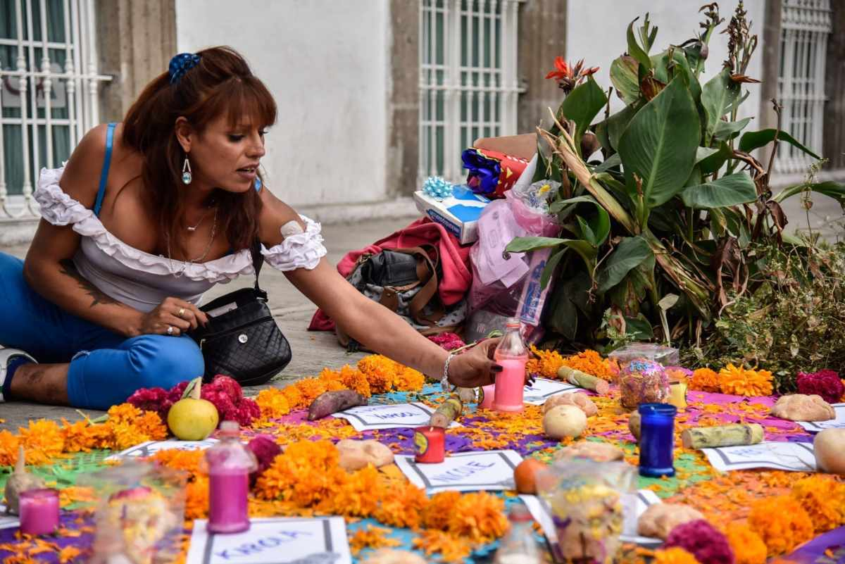 Altar en memoria de las personas trans asesinadas