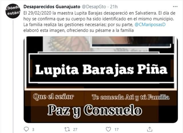 Maestra Lupita fosa clandestina