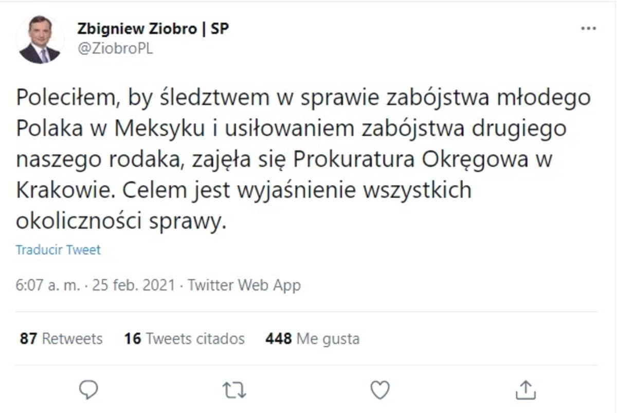 Ministro de Justicia Polonia ordena investigación caso tres jóvenes quitaron órganos México