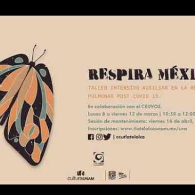 UNAM taller rehabilitación pulmonar COVID-19