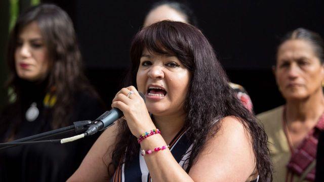 Nestora Salgado va por la candidatura al gobierno de Guerrero
