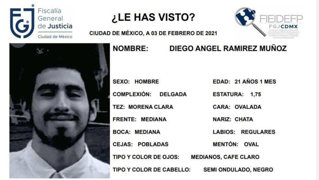 Encuentran sin vida a Diego Ángel, estudiante de la UNAM, en Xochimilco