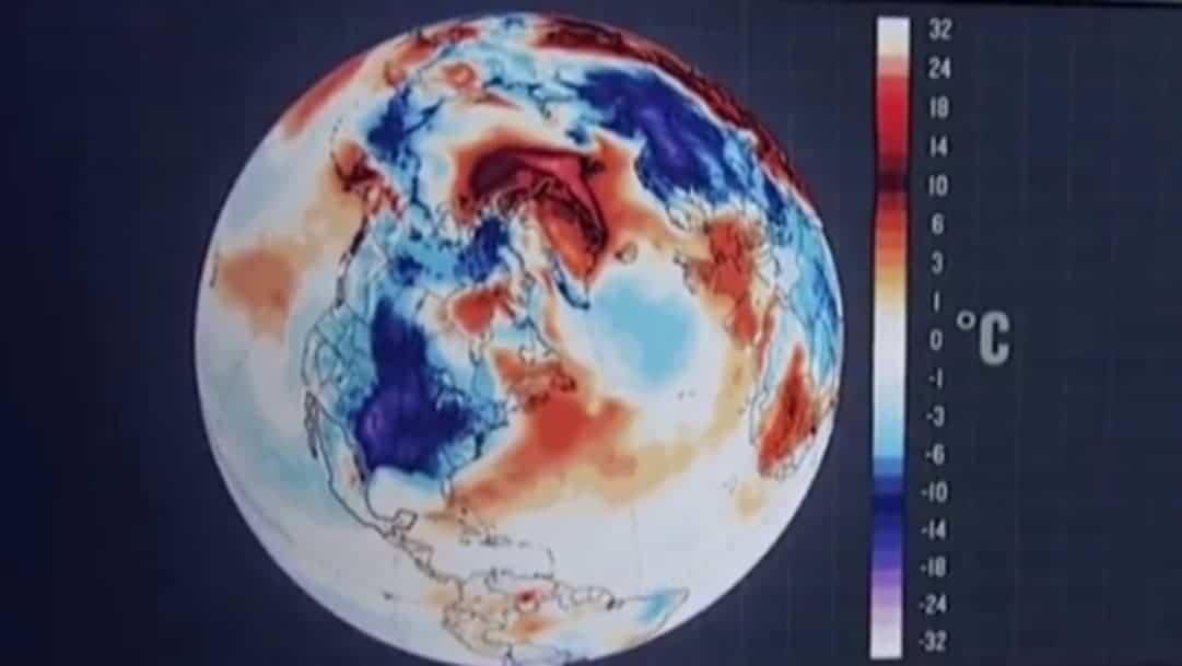 Mapa revela la histórica inversión de temperatura en el planeta