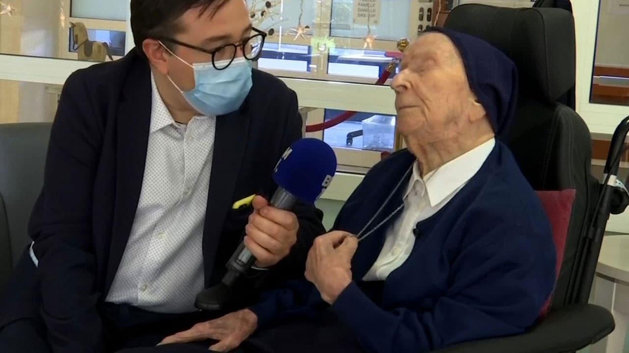 Lucile es la persona más anciana de Europa. La hermana Andre, es una monja de 117 años que superó al coronavirus que causa COVID-19