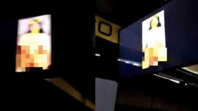 Pantalla del Metro de la CDMX transmite escena porno
