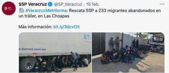 México: detienen a 349 migrantes centroamericanos que estaban abandonados en camiones