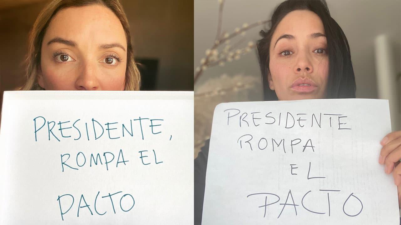 Con el #PresidenteRompaElPacto, feministas y artistas piden a AMLO que no apoyé la candidatura gubernamental de Félix Salgado Macedonio