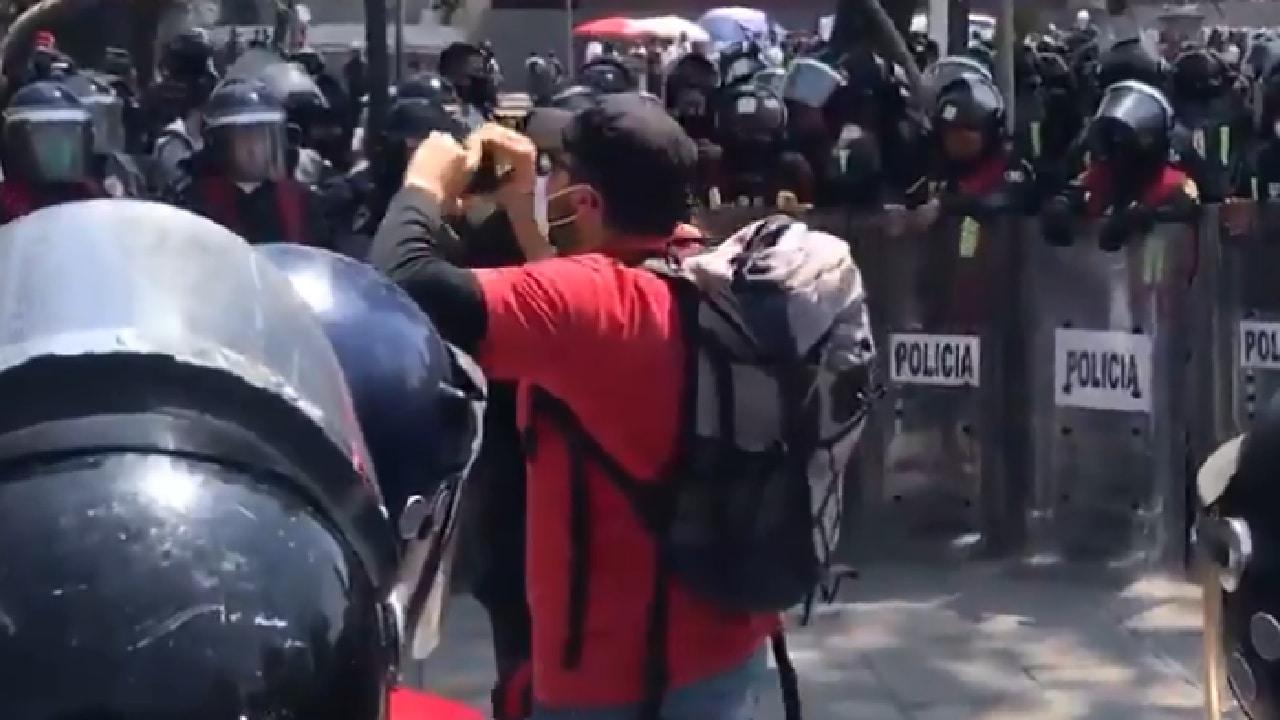 En el Metro Hidalgo encapsularon a manifestantes