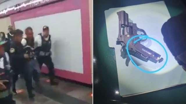 En la estación Merced del Metro CDMX se desató una riña, pues un hombre de 55 años golpeó a un usuario con una pistola de diábolos