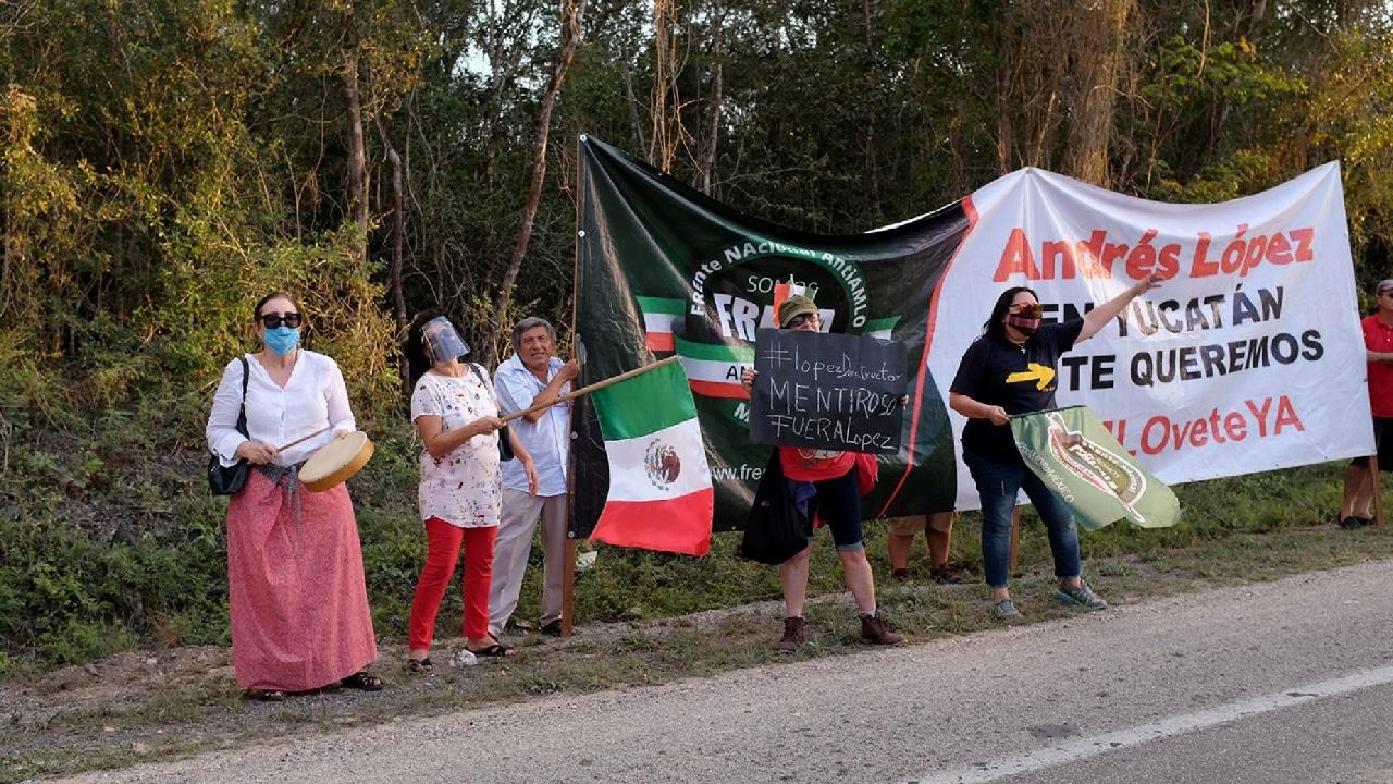 Ciudadanos de Yucatán se oponen al Tren Maya