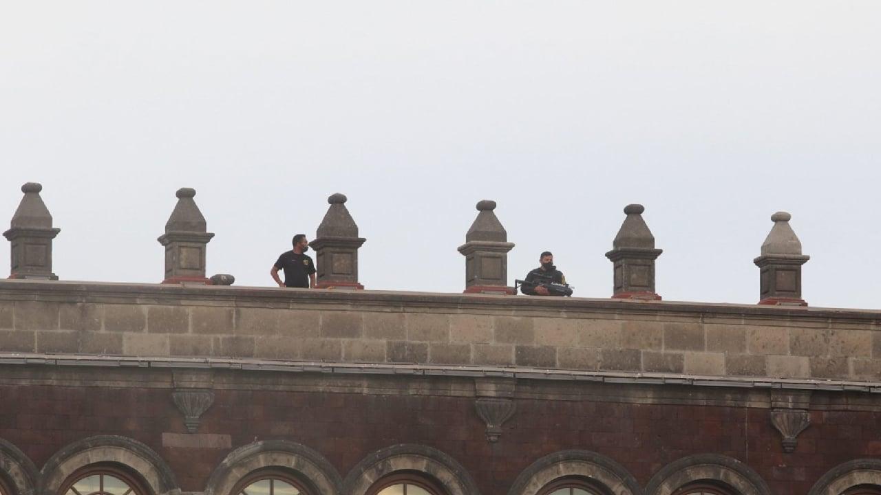 Se usaron rifles antidrones para proteger Palacio Nacional