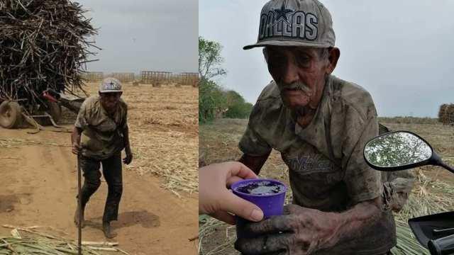 Ayuda Abuelito Trabaja 12 Horas Cortando Caña Veracruz