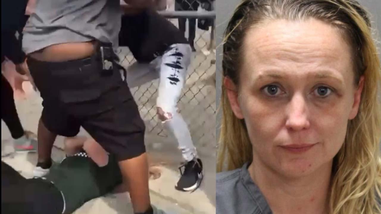 Florida mujer con guante box golpea niña