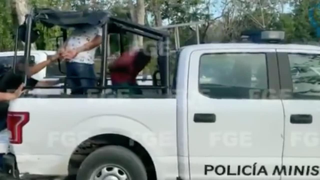 Trasladan Policías Tulum Feminicidio Victoria Salazar