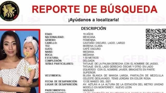Madre Bebé Desaparecen Monterrey Metro Cuauhtémoc