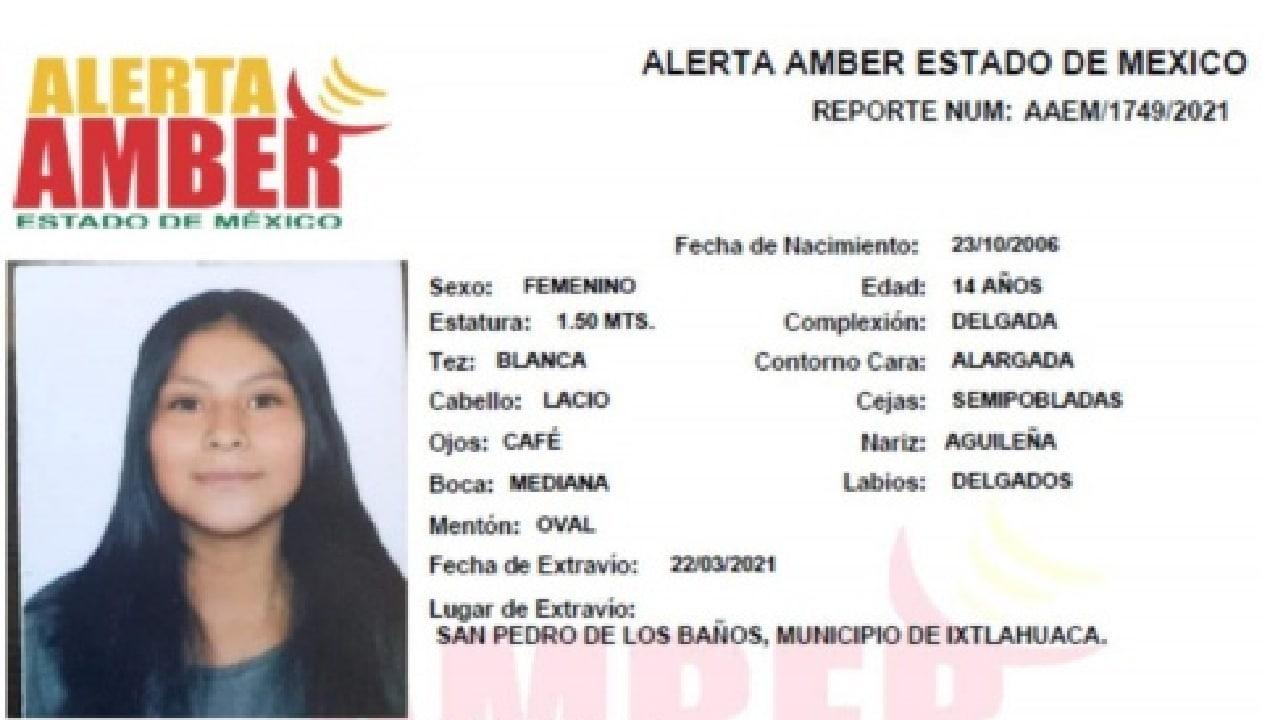 Dulce, menor desaparecida en el Estado de México