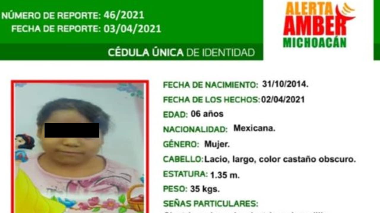 Sofía Lizeth niña desaparecida fue encontrada muerta en un cerro en Michoacán