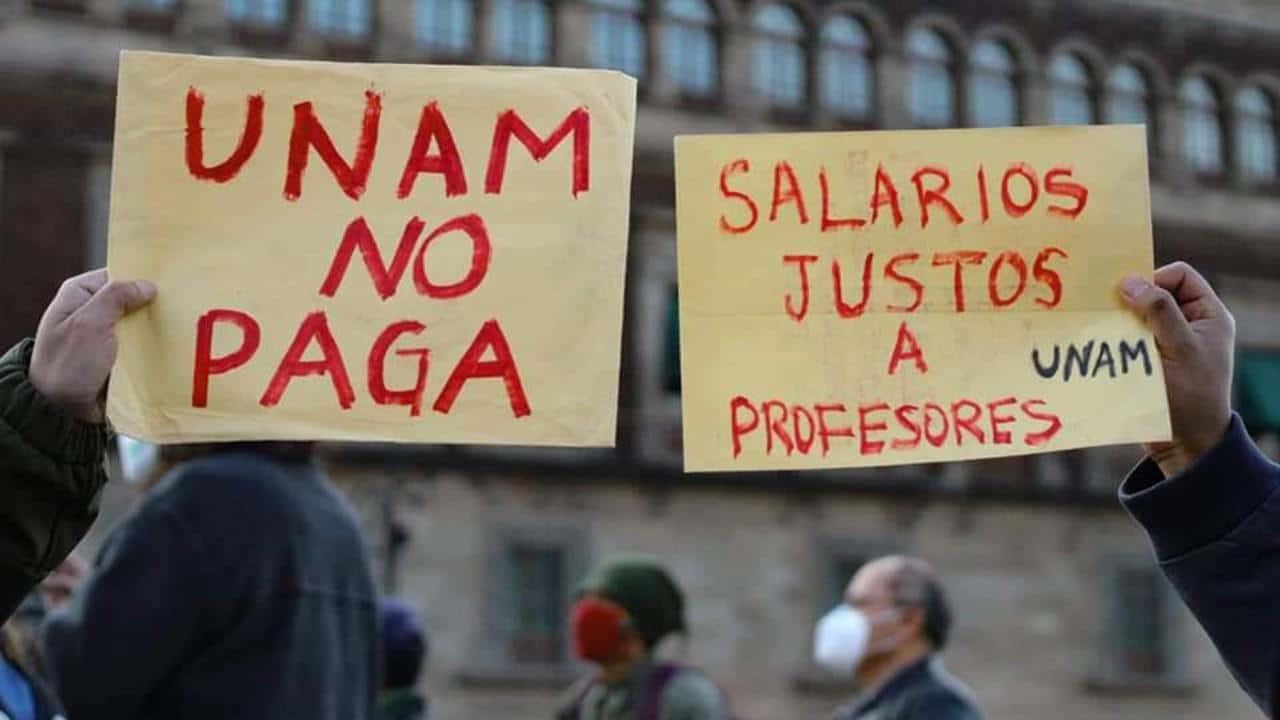 La UNAM no paga