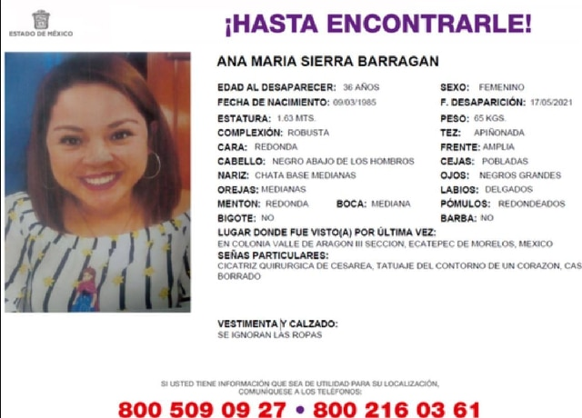 Ana María, Isabel Estrella Desaparecidas