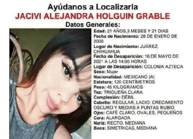Cadáver Jacivi Alejandra Kínder Juárez