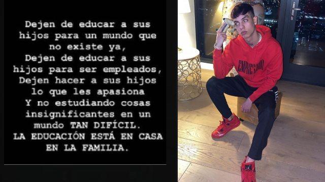 Natanael Cano arremetió contra el sistema educativo