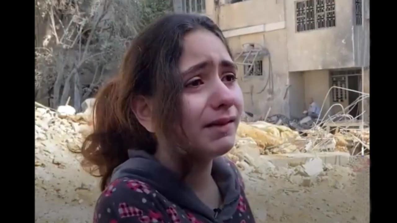 Palestina niña llora bombardeos Israel