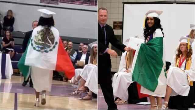 Jaymara Madrigal bandera de México EU