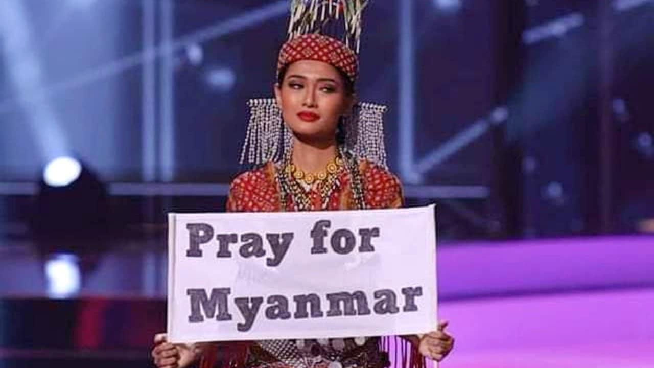 Miss Universo Myanmar golpe de estado