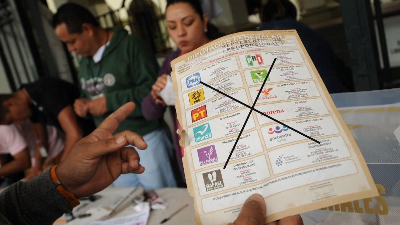 Voto nulo elecciones 2021