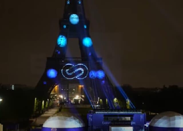 Video iluminan Torre Eiffel hidrógeno renovable