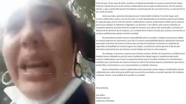 Trabajadora denuncia acoso en El Péndulo