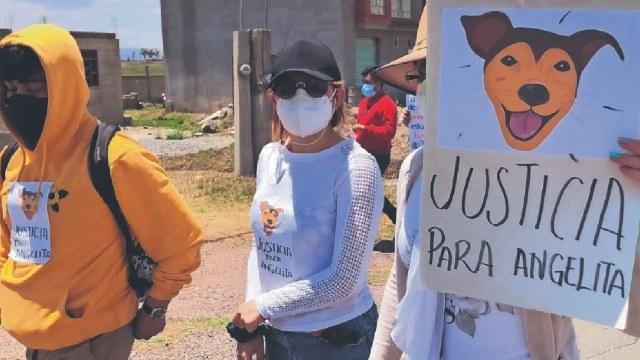 Protesta asesinato Angelita ahorcada hasta la muerte