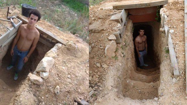 Joven construye cueva wifi España