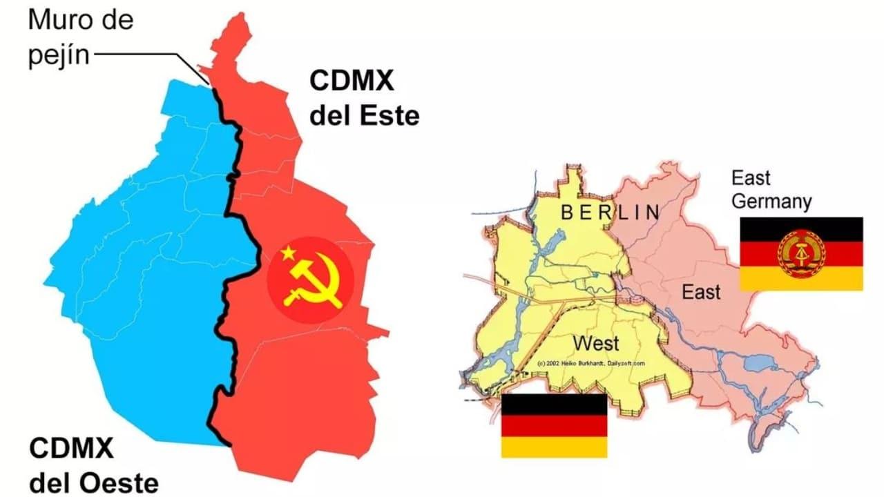 Muro de Pejín, CDMX se divide luego de las elecciones