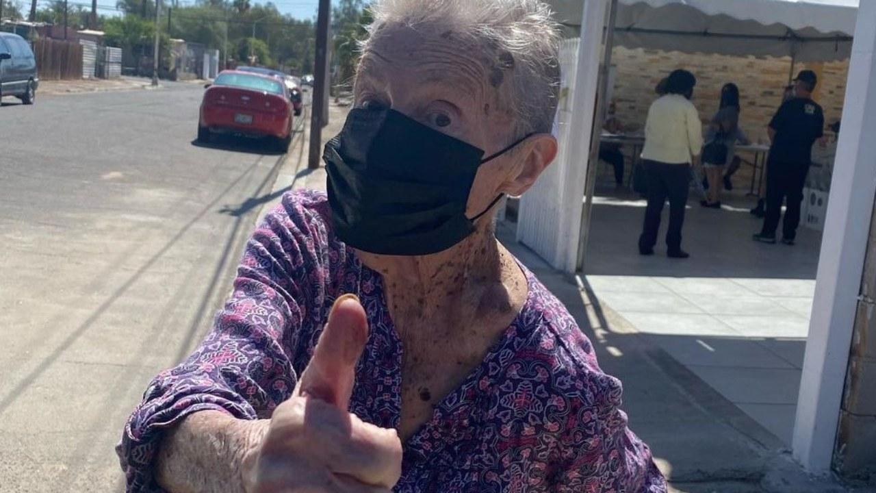Norma Trenti mujer que ha votado en toas las elecciones de México