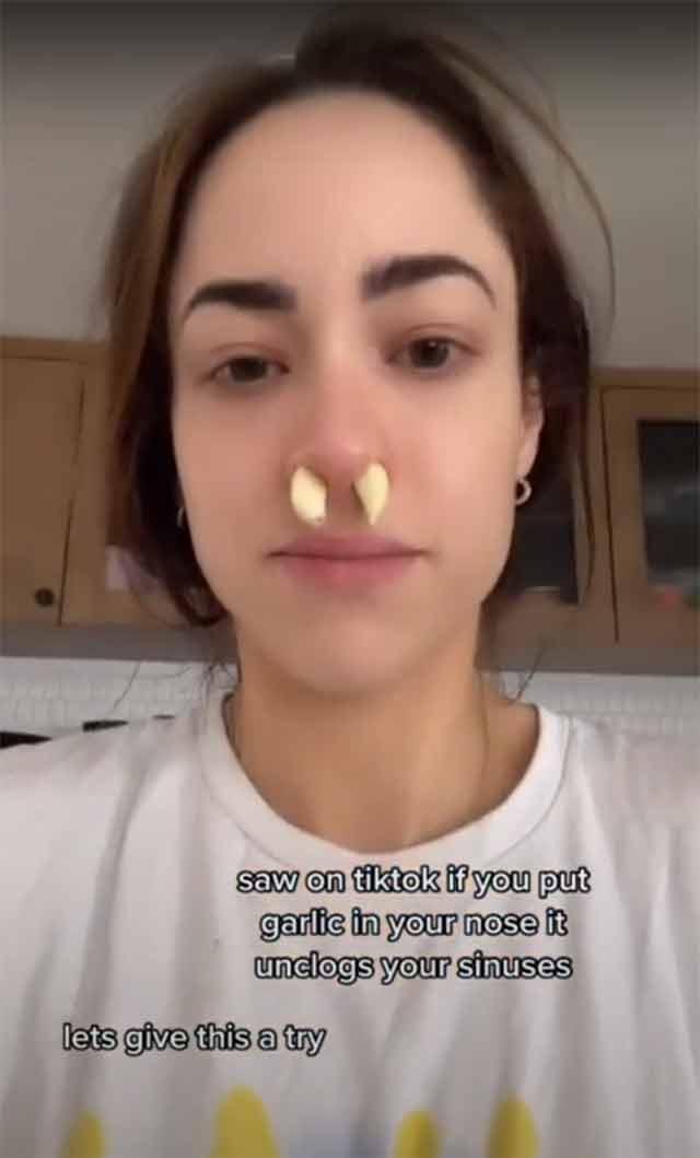 TikTok remedio curar congestión nasal ajo
