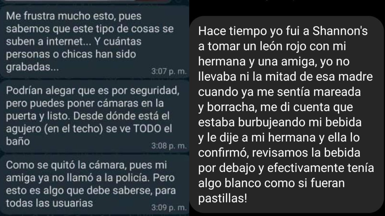 Testimonio denuncias Shannon´s Bar Zacatecas