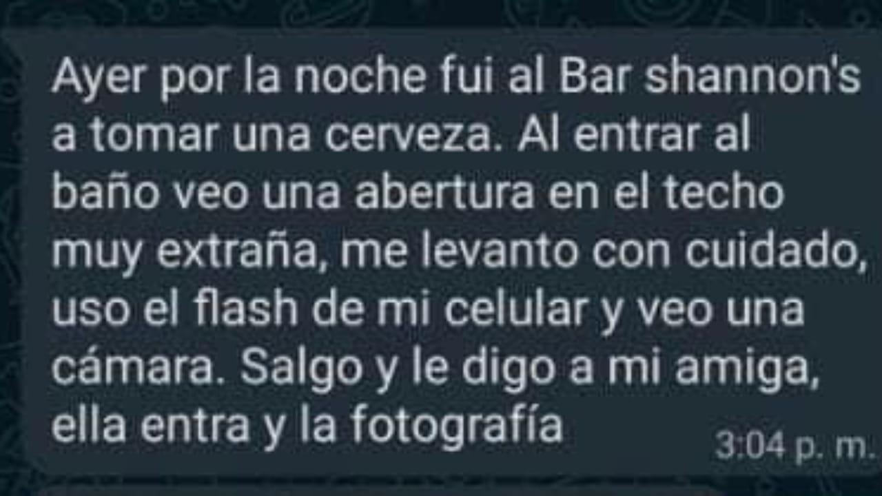 Denuncian bar de Zacatecas por tener cámaras ocultas en el baño de mujeres