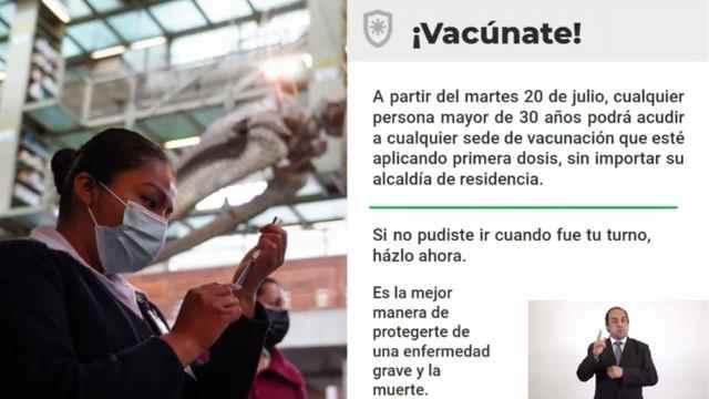CDMX anuncia vacunación COVID-19 para todos las personas de 30 a 39 años faltantes