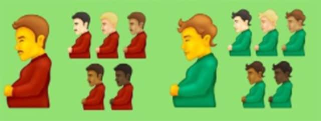 Emoji hombre trans embarazado